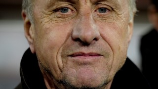 (FILES) This file photo taken on December 30, 2011 shows  Catalonia's coach Dutch Johan Cruyff looking on during a friendly football match between Catalonia National Team and Tunisia National Team at Lluis Companys Olympic stadium in Barcelona on December 30, 2011.   Johan Cruyff, one of the greatest footballers in history, died on March 24, 2016 at the age of 68 after losing his battle with cancer, it was announced on his official Twitter account. / AFP / JOSEP LAGO AND -
