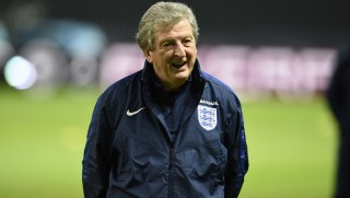 England's manager Roy Hodgson attends a ptraining on March 25, 2016 in Berlin on the eve of the friendly football match against Germany.    / AFP / dpa / ODD ANDERSEN