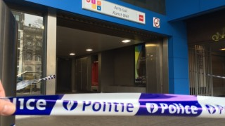 Illustration shows a police ribbon at the closed metro station Arts-Loi/ Kunst-Wet in Brussels after an explosion at Metro Maalbeek-Maelbeek, Tuesday 22 March 2016. At least 13 people have been killed after two explosions occurred this morning in the departure hall of Brussels Airport. The Brussels metro stations have been evacuated after explosions at Schuiman and Maelbeek-Maalbeek. Government sources speak of a terrorist attack. The terrorist threat level has been heightened to four across the country. BELGA PHOTO PHILIPPE FRANCOIS
