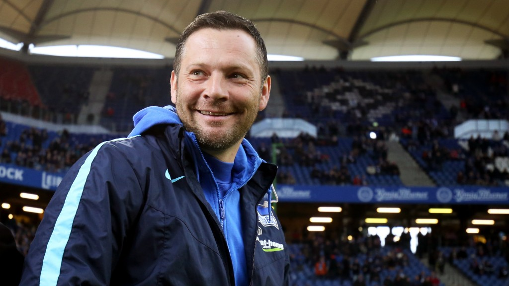 Berlin's head coach Pal Dardai prior to the German Bundesliga soccer match between Hamburg SV and Hertha BSC, at the Volksparkstadion in Hamburg, Germany, 06 March 2016. Photo: CHRISTIANCHARISIUS/dpa  (EMBARGOCONDITIONS - ATTENTION - Due to the accreditation guidelines, the DFLonly permits the publication and utilisation of up to 15 pictures per match on the internet and in online media during the match)
