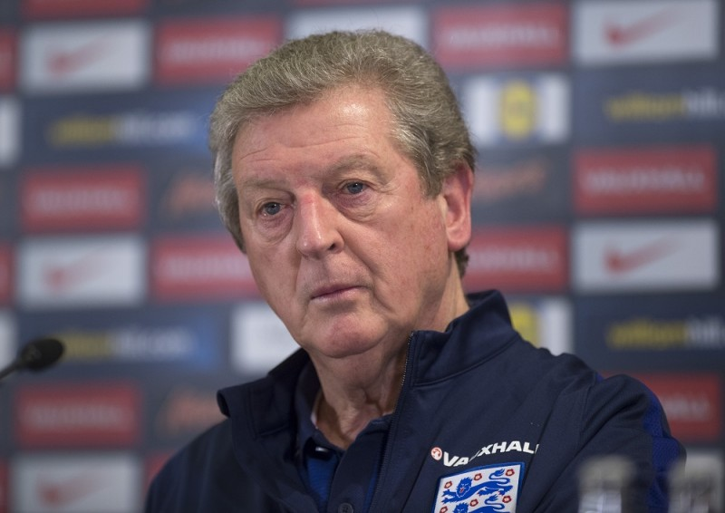 The coach of the English national soccer team, Roy Hodgson, speaks during a press conference in Berlin, Germany, 25 March 2016. The English national team will play Germany in a test match on 26 March 2016. Photo: SOEREN STACHE/dpa