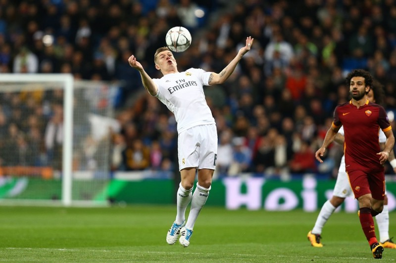 Toni Kroos of Real Madrid during the UEFA Champions League round of 16, 2nd leg, football match between Real Madrid CF and AS Roma on March 8, 2016 at Santiago Bernabeu stadium in Madrid, Spain.  Photo Manuel Blondeau/AOP Press/DPPI