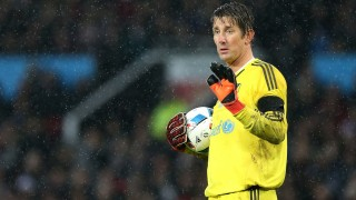 Edwin van der Sar during the Match for Children in aid of Unicef between Great Britain XI v Rest of World XI played at Old Trafford, Manchester on 14th November 2015. Photo Paul Greenwood / Backpage Images / DPPI