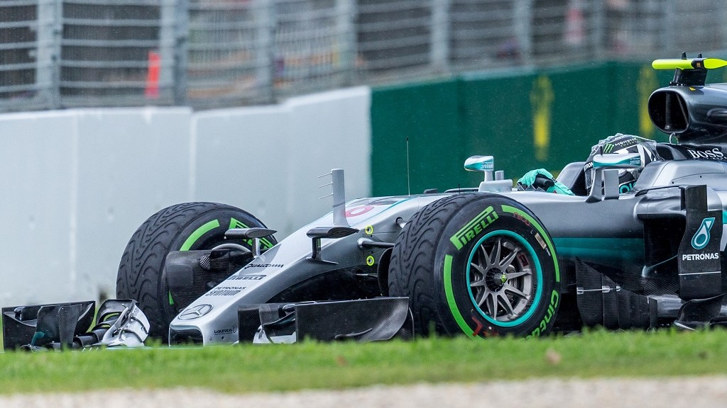MELBOURNE, AUSTRALIA - MARCH 18 : Nico Rosberg (GER) of Mercedes AMG Petronas during the first practice session of the 2016 Formula 1 Rolex Australian Grand Prix. Albert Park circuit Melbourne, Australia March 18 2016 Asanka Brendon Ratnayake / Anadolu Agency