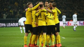 during the UEFA Europa League Round of 16 first leg match between Borussia Dortmund and Tottenham Hotspur at Signal Iduna Park on March 10, 2016 in Dortmund, Germany.