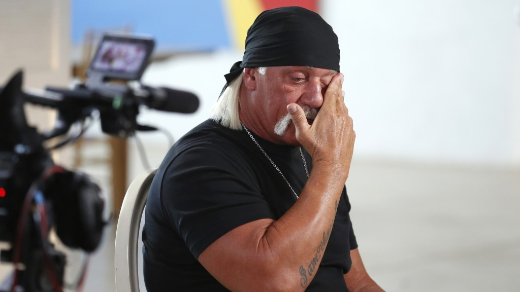 """GOOD MORNING AMERICA - Hulk Hogan sat down for an interview with Amy Robach to air on """"Good Morning America,"""" 8/28/15, on the ABC Television Network. (Photo by Heidi Gutman/ABC via Getty Images) HULK HOGAN"""