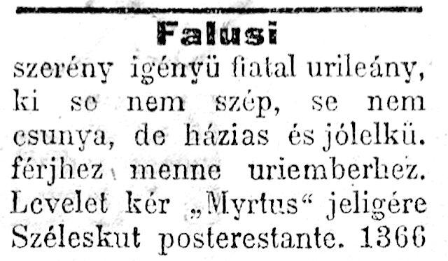 társkereső újságok)