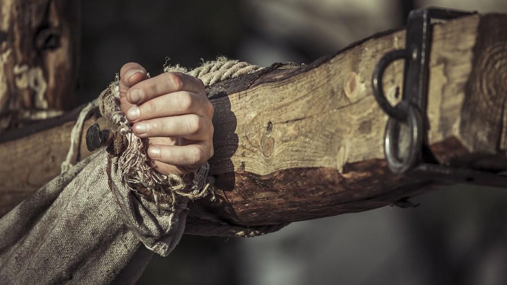 Nailed hand on cross