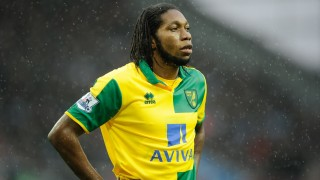 Dieumerci Mbokani of Norwich City during the English championship Premier League football match between Aston Villa and Norwich City on February 6, 2016 played at Villa Park in Birmingham, England - Photo Joe Toth / Backpage Images / DPPI