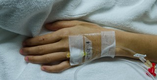 Soft focus hand is a popular area of saline and intravenous medications to patients.