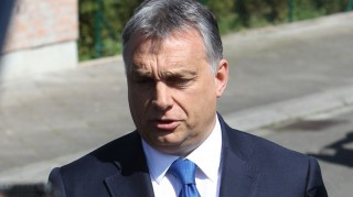 "Hungarian Prime Minister Viktor Orban addresses media after meeting with former German Chancellor Helmut Kohl (unpictured) at his home in Oggersheim near Ludwigshafen, Germany, on April 19, 2016. Former German Chancellor Helmut Kohl has warned that Europe can't become ""a new home"" for millions of migrants, in a veiled criticism of incumbent Angela Merkel's liberal asylum policies. / AFP PHOTO / DANIEL ROLAND"