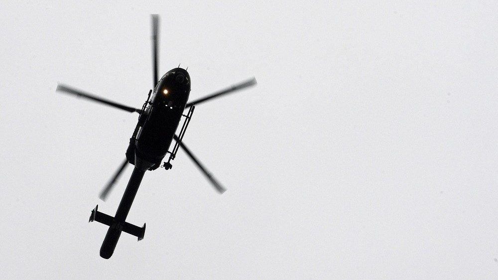 A helicopter flies over the courtroom, before the start of the handling of the case of Salah Abdeslam before the council chamber in Brussels, Thursday 24 March 2016. The court will have to decide whether Abdeslam will remain lodged in jail. On 18 March suspects in the November 13th Paris terrorist attacks Salah Abdeslam and Amine Choukri (alias Mounir Ahmed Alaaj, both assumed to be fake names) were arrested during searches in Molenbeek. Last Tuesday the police was shot with heavy weapons during the searching of an apartment in Vorst - Forest, further investigation of the incident led to the arrest of the main fugitive Abdeslam on Friday. BELGA PHOTO DIRK WAEM