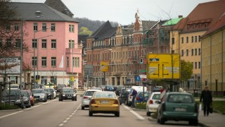 The town of Freital, Germany, 19 April 2016. The German federal prosecutor's office and the Federal Criminal Police Office have taken five alleged right-wing terrorists into custody in Freital on the same day. Photo:ARNOBURGI/dpa