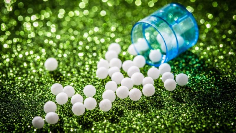 Homeopathic pills.  Paris, France   GARO/PHANIE