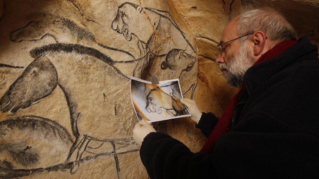 TOULOUSE, FRANCE - MAY 3:  In a studio artist Gilles Tosello works on the full-size reproduction of the Chauvet cave, an underground environment identical to the original that contains the world's oldest known cave paintings, on May 3, 2014 in Toulouse, France. The Chauvet-Pont d'Arc cave is oldest known decorated cave in the world, featuring prehistoric wall paintings, engravings and hand prints that are believed to be around 36,000 years old. UNESCO classified the Chauvet cave as a World Heritage site in June 2014. The cave, discovered on December 18, 1994, is closed to all except for scientists working at the site to protect its fragile contents and atmosphere. An reconstruction has been built, which faithfully reproduces the decorations and atmosphere of the original, as part of the 50 million Euro 'Espace de Restitution de la Grotte Chauvet' (ERGC) project. The project, built on an 8 hectare site in the hills of the Vallon-Pont-d'Arc near to the original cave, will offer other visitor facilities including a discovery centre, exhibitions, an educational area, restaurant and shop. The replica, the largest in Europe, will open to the public on April 10, 2015 and expects to welcome 300,000-400,000 visitors from around the world each year. (Photo by Patrick Aventurier/Getty Images)