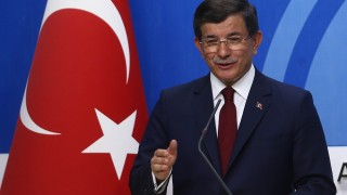 Turkish Prime Minister and leader of Turkey's ruling party, the Justice and Development Party (AK Party) Ahmet Davutoglu gives a press conference after an executive board meeting of his Justice and Development Party in Ankara, on May 5, 2016.  Ahmet Davutoglu announced he would not be seeking a new mandate as ruling party chief at a extraordinary party congress on May 22, meaning he will step down as prime minister. / AFP PHOTO / ADEM ALTAN