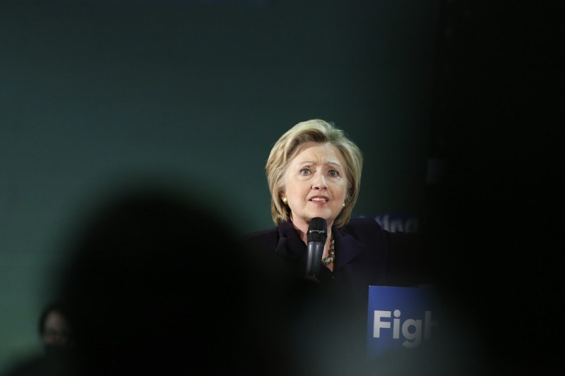 US Democratic presidential candidate Hillary Clinton speaks during a rally on  May 11, 2016 in Blackwood, New Jersey. / AFP PHOTO / KENA BETANCUR