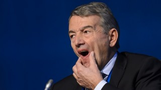 (FILES) This file photo taken on February 25, 2016 shows UEFA and FIFA Executive Committee member Wolfgang Niersbach of Germany attending the opening of an extraordinary congress on the eve of a FIFA presidential election in Zurich. FIFA's ethics committee adjudicatory chamber on May 20, 2016 recommended a two-year ban from all football activities for Wolfgang Niersbach, former president of the German Football Association (DFB), over an alleged corruption scandal around the right to host the 2006 World Cup. / AFP PHOTO / FABRICE COFFRINI