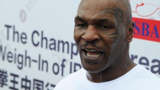 American boxer Mike Tyson attends the Weigh-In of IBF World Championship Bout during the Champion Great Wall Tour in Beijing, China, 24 May 2016.