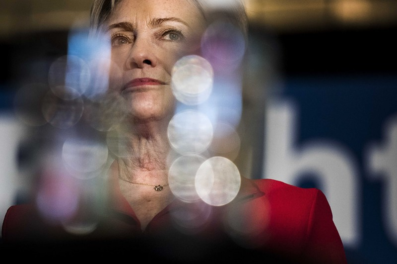 BOWLING GREEN, KY - Secretary of State Hillary Clinton meets and speaks to voters at a political rally in Bowling Green, Kentucky on Monday May 16, 2016. (Photo by Melina Mara/The Washington Post via Getty Images)