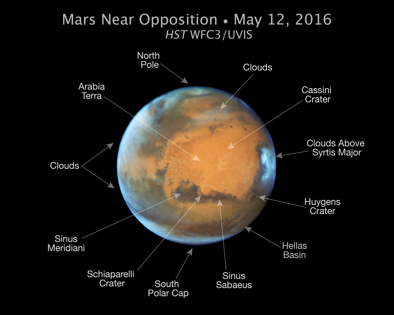 Lélegzetelállító fényképet készített a Marsról a Hubble | 24.hu
