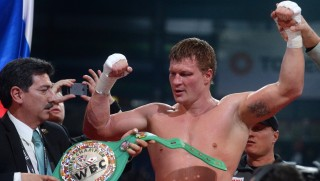 2732465 11/04/2015 Russia's Alexander Povetkin after defeating Mariusz Wach of Poland in a bout for the WBC silver heavyweight title at a boxing show in Kazan. Maksim Bogodvid/RIA Novosti