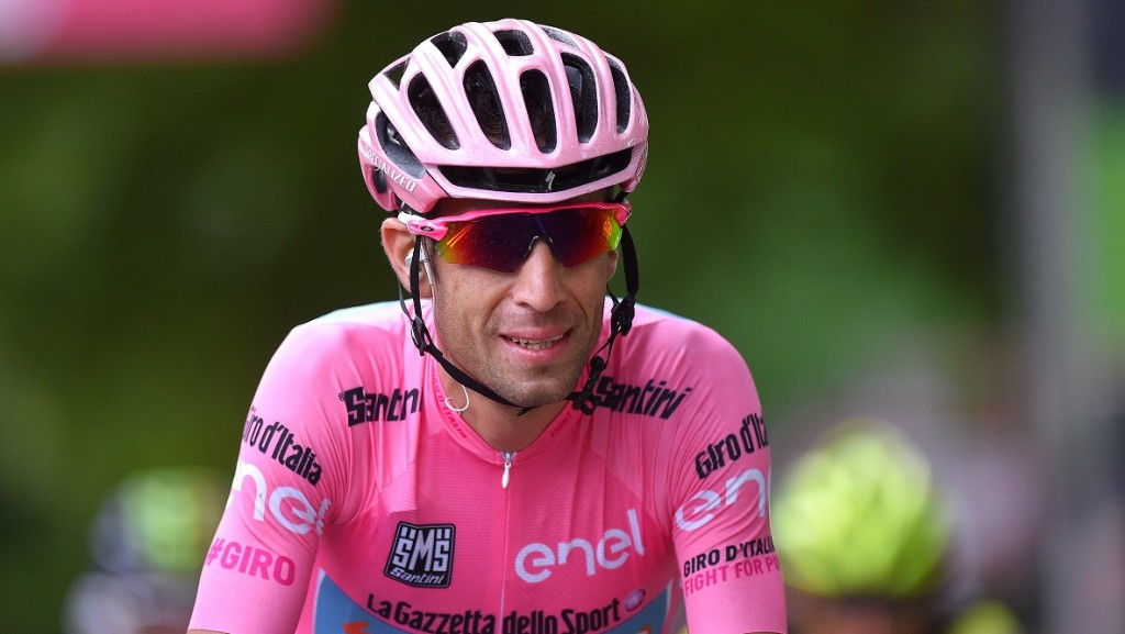 Cycling: 99th Tour of Italy 2016 / Stage 21 Arrival / Vincenzo NIBALI (ITA) Pink Leader Jersey / Celebration /  Cuneo - Torino (163km)/  Giro / (Photo by Tim de Waele/Corbis via Getty Images)