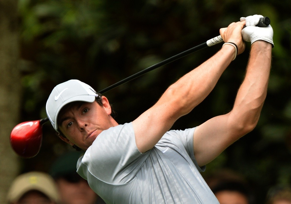 Rory McIlroy of Northern Ireland plays during the second round of the 77th Masters golf tournament at Augusta National Golf Club on April 12, 2013 in Augusta, Georgia.    AFP PHOTO /  JEWEL SAMAD / AFP PHOTO / JEWEL SAMAD