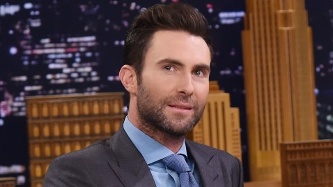 """NEW YORK, NY - APRIL 28: Musician Adam Levine visits """"The Tonight Show Starring Jimmy Fallon"""" on April 28, 2016 in New York, New York.   Mike Coppola/Getty Images for NBC/AFP"""