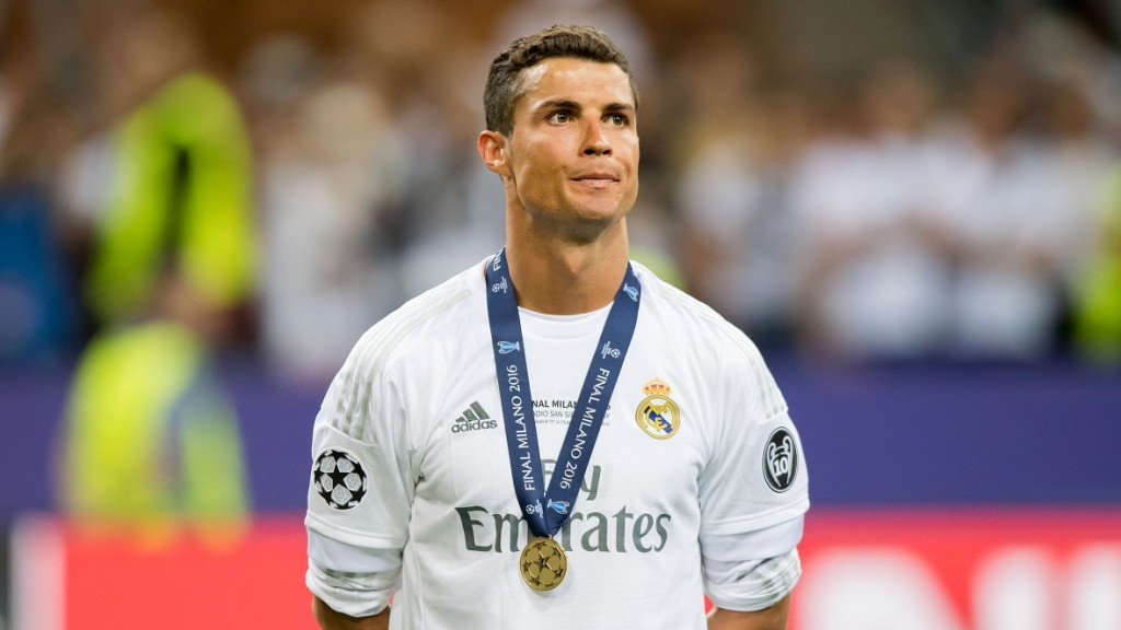 Real's Cristiano Ronaldo during theUEFAChampionLeague final between Real Madrid and Atletico Madrid Giuseppe Meazza stadium in Milan, Italy 28 May 2016. Photo: Thomas Eisenhuth/dpa (WIRESERVICEONLYONREQUEST)