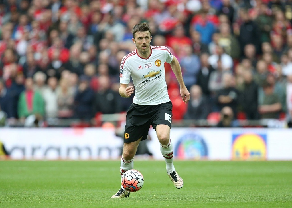 Manchester United's Michael Carrick during the English FA Cup Final football match between Manchester United and Crystal Palace on May 21, 2016 played at Wembley Stadium in London, England - Photo Jed Leicester / Backpage Images / DPPI