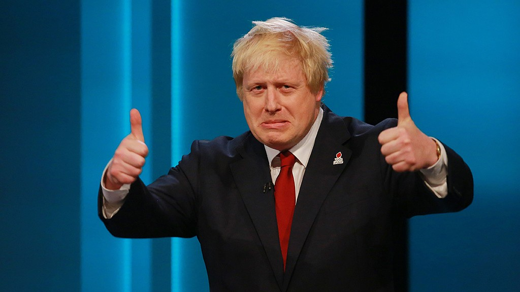 """This handout picture released by ITV shows Former Mayor of London and Conservative Party politician Boris Johnson, gesturing while representing the 'Leave' campaign during The ITV Referendum Debate in London on June 9, 2016Brexit campaigners accused the government of trying to rig the EU referendum and threatened legal action on Thursday as former London mayor Boris Johnson squared up for the campaign's first TV debate. The two-hour debate is the second of ITV's major live event European Referendum programmes.  / AFP PHOTO / Rex Features / Matt Frost / RESTRICTED TO EDITORIAL USE - MANDATORY CREDIT """"AFP PHOTO / ITV / REX / SHUTTERSTOCK / MATT FROST"""" - NO MARKETING NO ADVERTISING CAMPAIGNS - DISTRIBUTED AS A SERVICE TO CLIENTS - NOT TO BE USED AFTER JUNE 30, 2016"""
