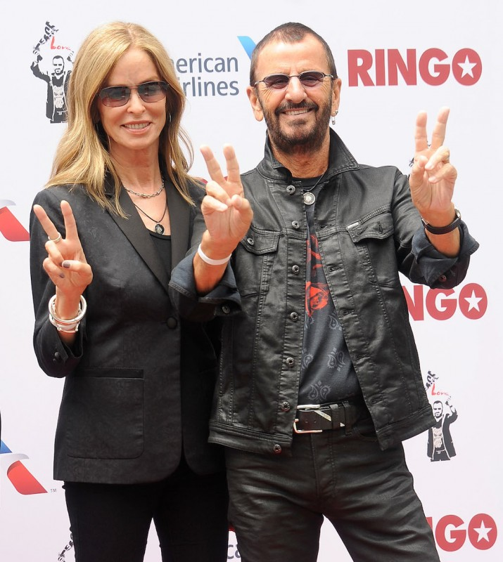 HOLLYWOOD, CA - JULY 07: Musician Ringo Starr and Barbara Bach attend Ringo's birthday fan gathering at Capitol Records on July 7, 2015 in Hollywood, California.  (Photo by Gregg DeGuire/WireImage)