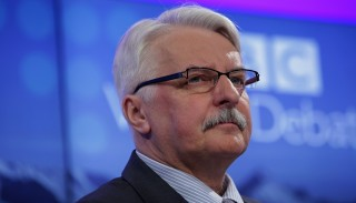 Witold Waszczykowski, Poland's foreign minister, looks on during a panel session at the World Economic Forum (WEF) in Davos, Switzerland, on Friday, Jan. 22, 2016. World leaders, influential executives, bankers and policy makers attend the 46th annual meeting of the World Economic Forum in Davos from Jan. 20 - 23. Photographer: Matthew Lloyd/Bloomberg via Getty Images