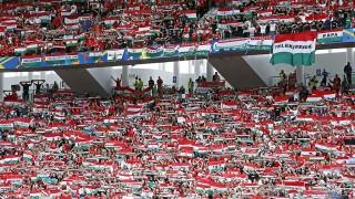Bordeaux, 2016. június 14.Magyar szurkolók a franciaországi labdarúgó Európa-bajnokság F csoportjának első fordulójában játszott Magyarország - Ausztria mérkőzésen a bordeaux-i Új Stadionban 2016. június 14-én. Magyarország 2-0-ra győzött. (MTI/AP/Haszan Ammar)