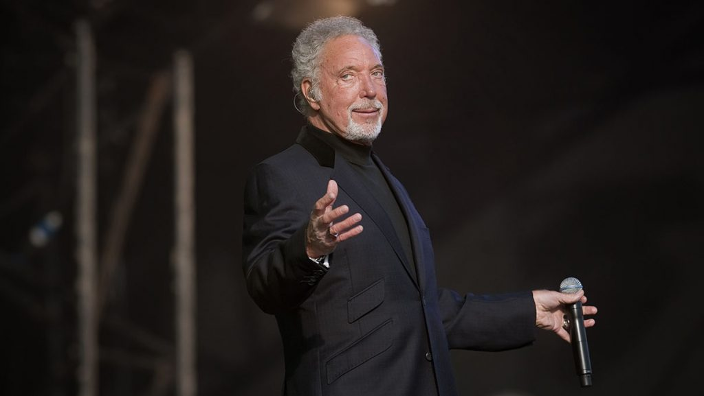 KINROSS, UNITED KINGDOM - JULY 08: Tom Jones performs on stage during the 1st day of the T In The Park Festival 2011at Balado on July 8, 2011 in Kinross, United Kingdom. (Photo by Ross Gilmore/Redferns)