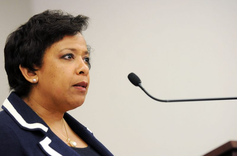 ORLANDO, FLORIDA - JUNE 21: Attorney General Loretta Lynch speaks during a news conference about the Pulse nightclub mass shooting on June 21, 2016 in Orlando, Florida. Loretta Lynch is visiting in the wake of the June 12 shooting at the Pulse nightclub in what is being called the worst mass shooting in American history, Omar Mir Seddique Mateen killed 49 people at the popular gay nightclub early last Sunday. Fifty-three people were wounded in the attack which authorities and community leaders are still trying to come to terms with.   Gerardo Mora/Getty Images/AFP / AFP PHOTO / GETTY IMAGES NORTH AMERICA / GERARDO MORA