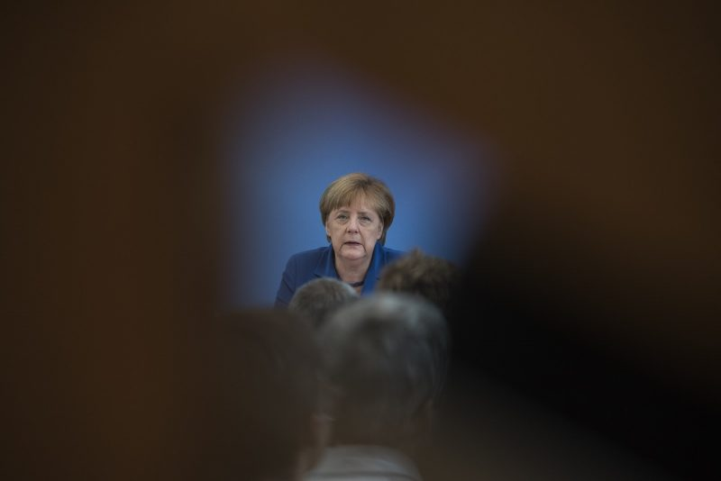 German Chancellor Angela Merkel addresses a press conference in Berlin on 28 July,2016 Chancellor Merkel has interupted her holiday to hold her annual wide-ranging press conference on domestic and foreign policy following a spate of attacks that have reignited criticism of her liberal stance on asylum. / AFP PHOTO / John MACDOUGALL
