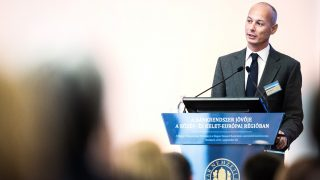 Bogdan Olteanu, deputy governor of Romania's central bank, the Banca Nationala A Romaniei, speaks during the financial conference titled 'The Future of the Banking System in the CEE Region' in Budapest, Hungary, on Wednesday, Sept. 30, 2015. The euro area's inflation rate unexpectedly turned negative in September for the first time in six months, adding pressure on the European Central Bank to bolster stimulus. Photographer: Akos Stiller/Bloomberg via Getty Images
