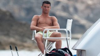 IBIZA, SPAIN - JULY 13:  Real Madrid football player Cristiano Ronaldo is seen on July 13, 2016 in Ibiza, Spain.  (Photo by Europa Press/Europa Press via Getty Images)