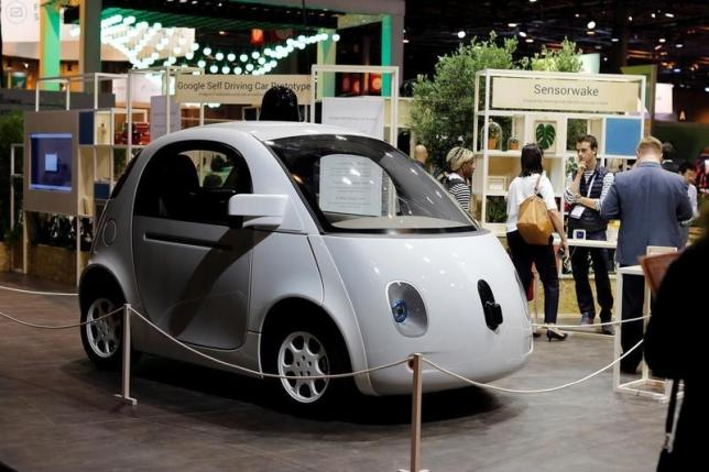 A self-driving car by Google is displayed at the Viva Technology event in Paris, France, June 30, 2016. REUTERS/Benoit Tessier