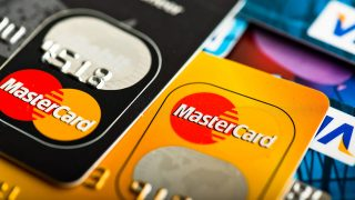 35312506 - yekataerinburg, russia - jan 07, 2015: pile of credit cards, visa and mastercard. visa and mastercard are a two biggest credit card companies in the world.