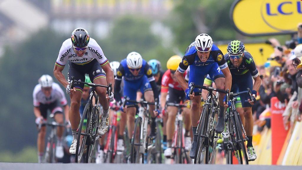 Cycling: 103th Tour de France 2016 / Stage 2 Arrival / Sprint / Peter SAGAN (SVK)/ Julian ALAPHILIPPE (FRA)/ Alejandro VALVERDE (ESP)/  Saint-Lo - Cherbourg-en-Cotentin (183km)/  TDF / © Tim De Waele