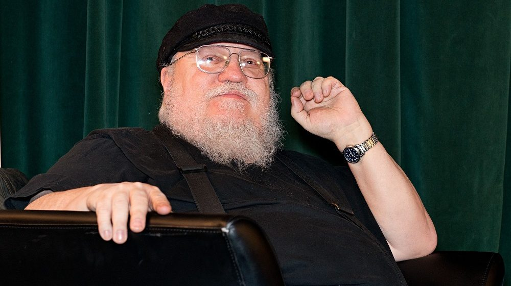 """SANTA FE, NM - FEBRUARY 23: Writer George R. R. Martin participates in a Q & A session following SundanceTV's """"Hap & Leonard"""" Screening at the Jean Cocteau Theater on February 23, 2016 in Santa Fe, New Mexico.   Steve Snowden/Getty Images for AMC Networks/AFP"""