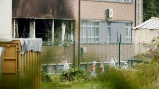 Illustration picture shows the National Institute for Criminalistics and Criminology (INCC-NICC) where an explosion took place at 3am this morning, on Monday 29 August 2016, in Neder-Over-Heembeek. A car broke through three fences and was detonated close to the institute's laboratories causing a violent fire. Nobody was injured during the incident, which has clear criminal intent according to police, but there is considerable damage. BELGA PHOTO THIERRY ROGE
