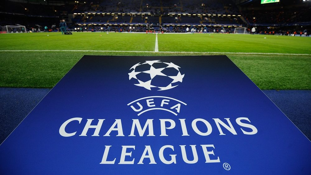 The UEFA Champions League logo during the UEFA Champions League Group G match between Chelsea and FC Porto played at Stamford Bridge, London on the 9th of December 2015 - Photo Joe Toth / BPI / DPPI