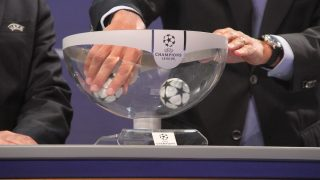 NYON, SWITZERLAND - AUGUST 05: A view of the draw bowl during the UEFA Champions League 2016 play-off matches, at the UEFA Headquarters in Nyon, Switzerland on August 05, 2016.  Fatih Erel / Anadolu Agency