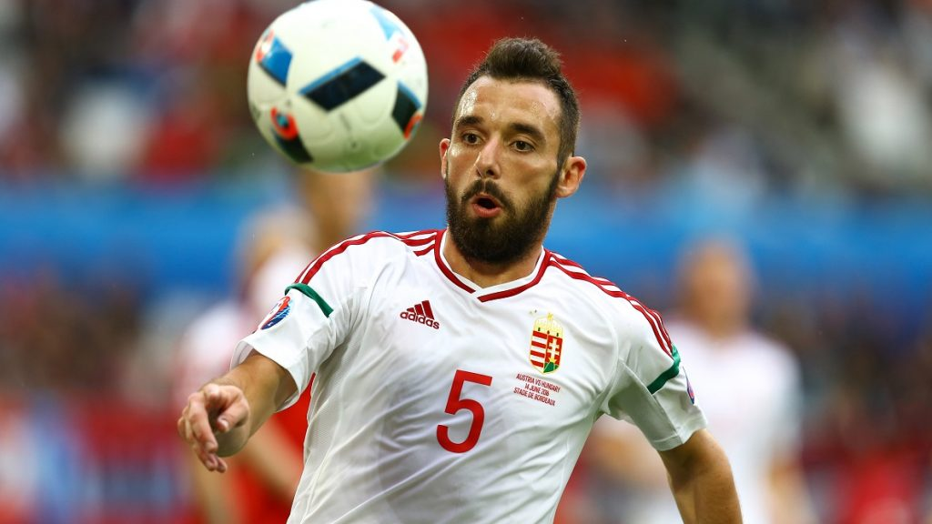 Attila Fiola of Hungary during the UEFA EURO 2016 Group F match between Austria and Hungary at Stade Matmut Atlantique on June 14, 2016 in Bordeaux, France. (Photo by Manuel Blondeau/Icon Sport) (Photo by Manuel Blondeau/Icon Sport via Getty Images)