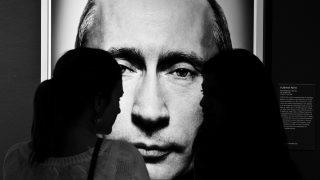 """Taken during the opening of the exhibition """"Power Platon"""" (""""Gesichter der Macht"""") at the Westlicht Gallery in Vienna (www.westlicht.at) The portrait of Putin is copyright by Platon (platonphoto.com)"""
