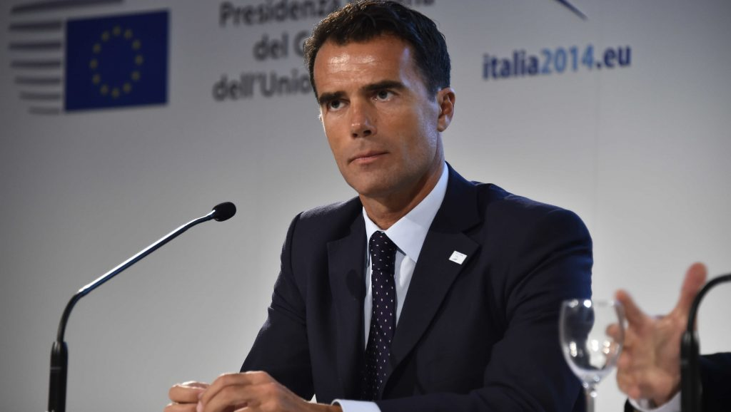 Sandro Gozi, during the informal meeting of the EU Foreign Affairs Ministers, in Milan, Italy, Friday, Aug. 29, 2014. (Photo by Fabio Ion��/Corbis via Getty Images)